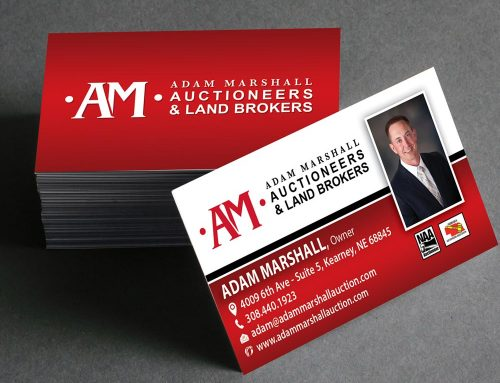 Adam Marshall Auctioneers – Business Cards
