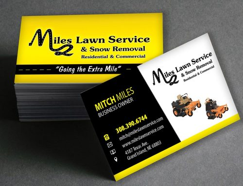 Miles Lawn Service – Business Cards